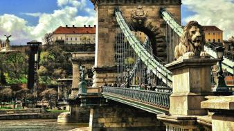 Hungary chain bridge budapest europe wallpaper