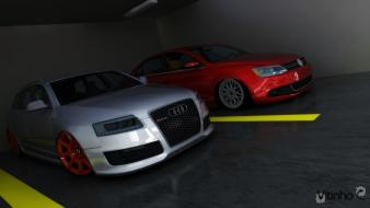 Jetta 3ds max audi rs6 avant render wallpaper