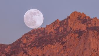 Landscapes moon usa arizona rocky wallpaper