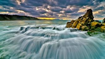 Landscapes nature rocks sea Wallpaper