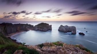 Landscapes rocks sea shorelines seascape wallpaper