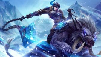 League of legends classic frost moba sejuani game wallpaper