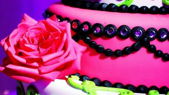 Love flowers sweets cake wallpaper