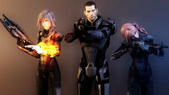 Mass effect serah farron claire commander shepard wallpaper