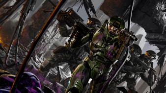 Master chief concept art science fiction artwork wallpaper