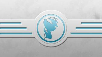 Minimalistic my little pony rainbow dash icon wallpaper