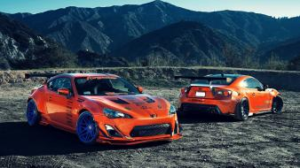 Mountains cars toyota vehicles gt86 automobile Wallpaper