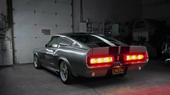 Muscle cars ford shelby taillights garage ameerican Wallpaper
