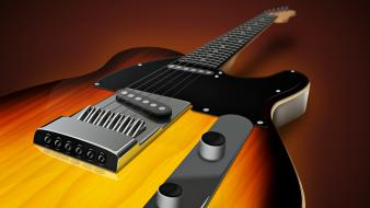 Music electric instruments guitars wallpaper