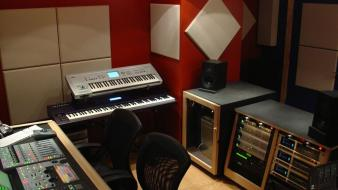 Music studio room wallpaper