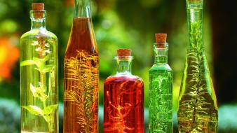 Nature bottles asia colors herbs excited smell taste Wallpaper