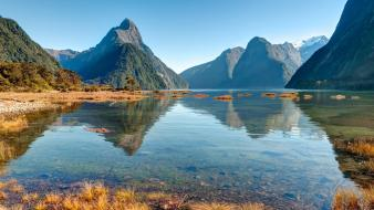 Nature new zealand lakes wallpaper