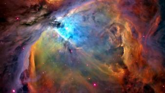 Outer space stars nebulae orion galaxy nebula Wallpaper