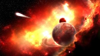 Red planets nebulae comet high resoliton custom wallpaper