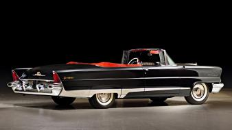 Retro convertible 1956 lincoln luxury premiere vintage car wallpaper