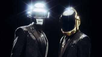 Robots daft punk shiny helmets suit-jacket wallpaper