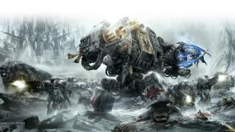 Science fiction artwork dreadnought wolves warhammer 40k wallpaper