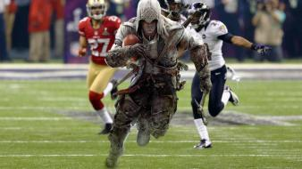 Sports funny american football 3 connor kenway Wallpaper