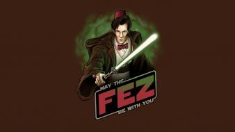 Star wars may eleventh doctor who fez wallpaper
