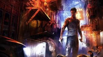 Tattoos video games hong kong triad sleeping dogs wallpaper