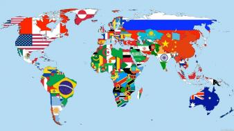 World flags maps Wallpaper