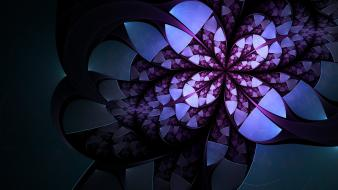 Abstract flowers artwork wallpaper