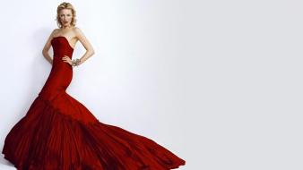 Actresses cate blanchett red dress simple background wallpaper