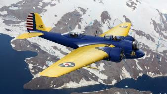 Aircraft alaska aviation martin b-10 Wallpaper
