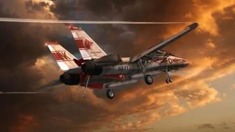 Aircraft military artwork f-14 tomcat Wallpaper