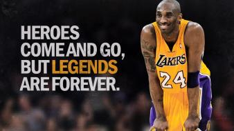 Angeles lakers writing hero basketball player legends wallpaper