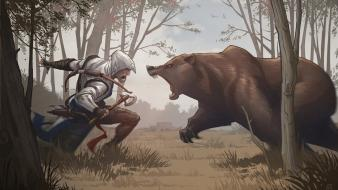Artwork bears fan art connor kenway game wallpaper
