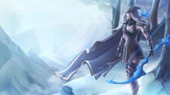 Ashe the frost archer game characters freljord Wallpaper