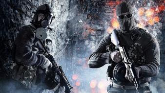 Battlefield 3 fan art man with guns wallpaper