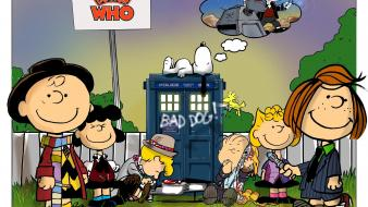 Brown doctor who crossovers peanuts (comic strip) wallpaper
