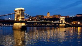 Budapest chain bridge wallpaper