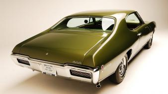 Cars muscle wheels pontiac gto green american auto wallpaper