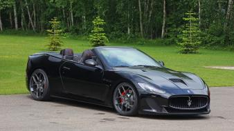 Cars static maserati grancabrio mc novitec tridente wallpaper