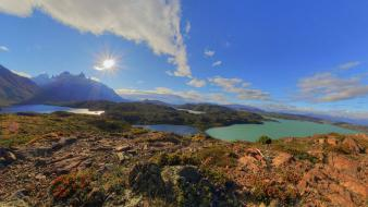 Chile mountains landscapes nature lakes patagonia four tundra Wallpaper