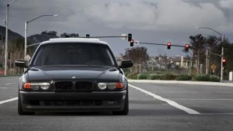 Clouds cars roads bmw e38 7 series stance Wallpaper