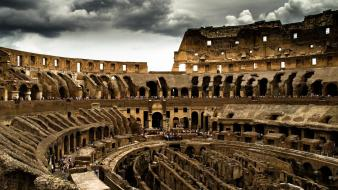 Clouds rome colosseum wallpaper