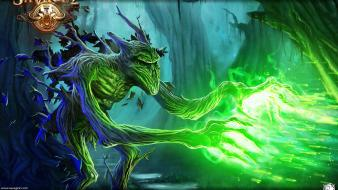 Creatures savage forest green light game fantasy wallpaper