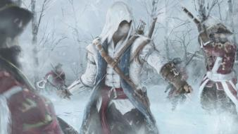 Creed revelations connor kenway assasins 3 art wallpaper