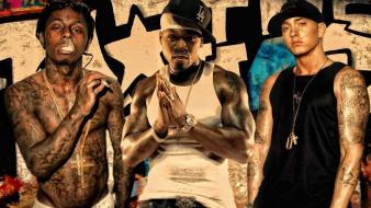 Eminem lil wayne 50 cent raper Wallpaper