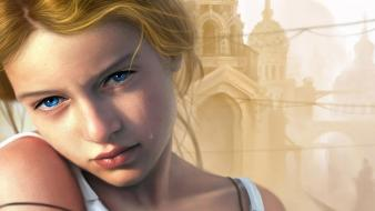 Eyes teen fantasy art artwork crying faces wallpaper