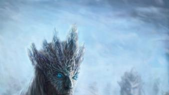 Fantasy art artwork game of thrones white walkers wallpaper
