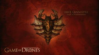 Game of thrones ii house lannister drones wallpaper