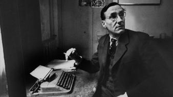 Grayscale writers typewriters william s. burroughs literature wallpaper