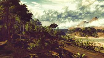 Jungle artwork just cause 2 beach wallpaper
