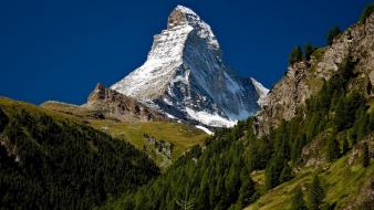 Mountains landscapes nature switzerland matterhorn Wallpaper