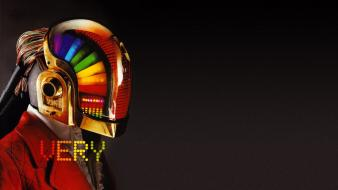 Music multicolor daft punk wallpaper